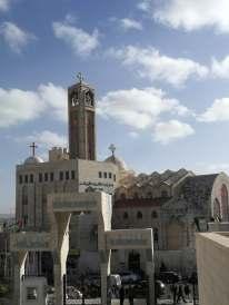 Kościół koptyjski z perspektywy meczetu