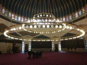 Meczet Króla Abdullaha w środku