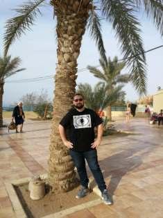 Przed kąpielą w Morzu Martwym