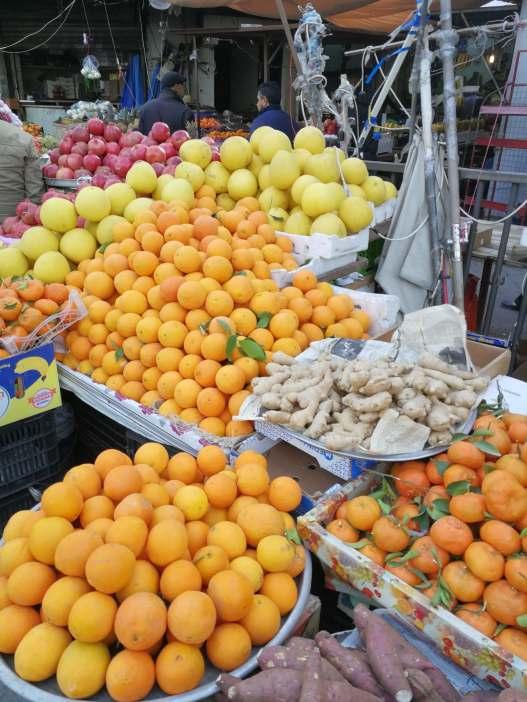 Kolory targu owocowego