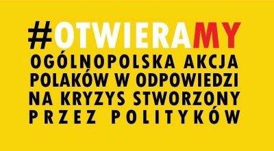 Banner akcji #OtwieraMy