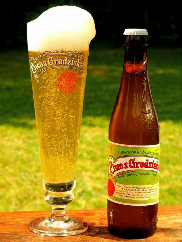 Piwo z Grodziska, butelka i szkło