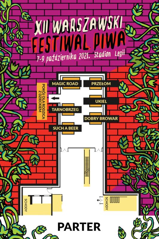 Mapa parteru festiwalu