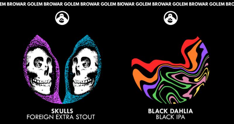 Etykiety premierowych piw z Browaru Golem